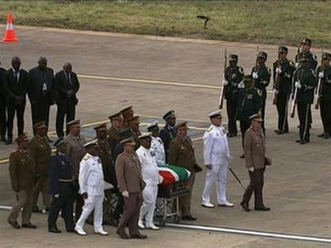 Heads Home For Funeral by Mandela Remains To Home For Burial