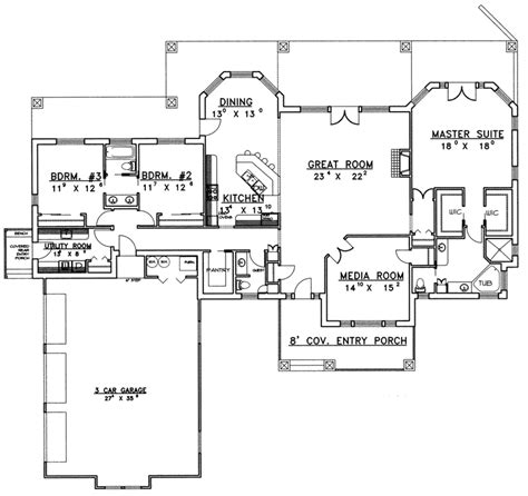 Luxury Ranch Floor Plans | boulder luxury ranch home plan 088d 0360 house plans and