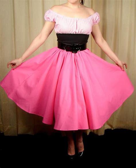 pink full circle skirt cats like us