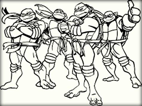 Cartoon Ninja Turtles Gang Coloring Pages Color Zini Tmnt Names Coloring Pages