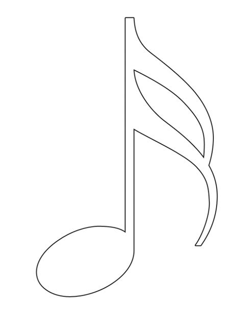 free coloring pages of eighth note