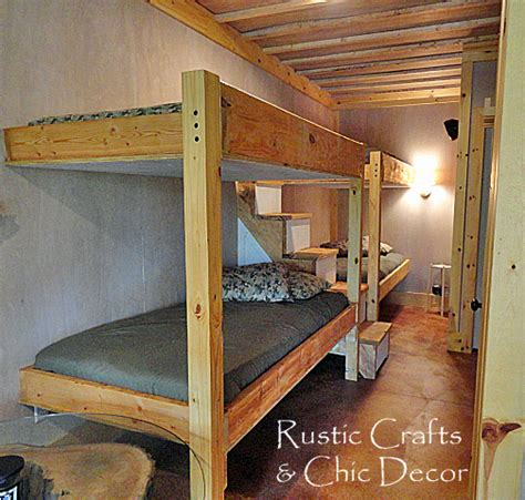how to build a loft bed for adults bunk bed plans cabin 187 woodworktips
