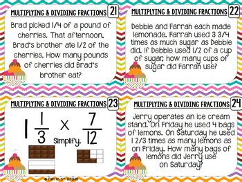 multiplying fractions using cards template multiply and divide fractions task cards by in