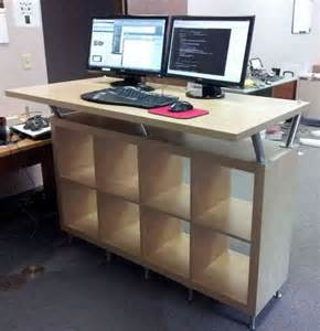 Small Table For Standing Desk Standing Computer Desk Ikea Decor Ideasdecor Ideas