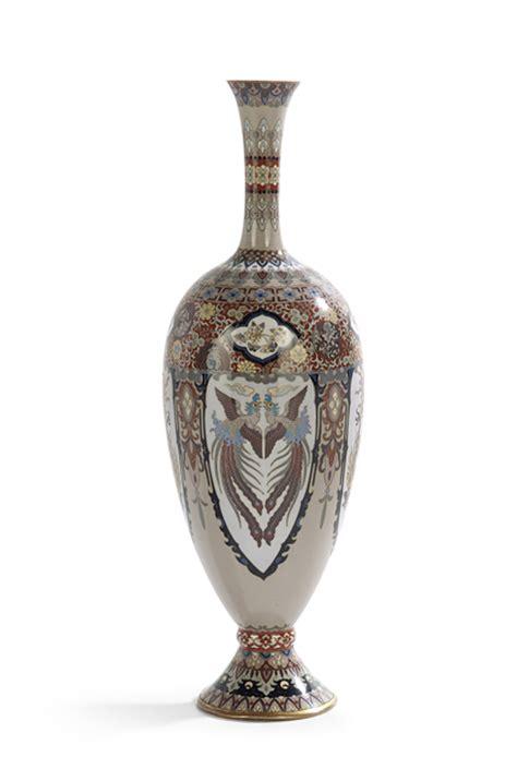 Japanese Vase Shapes by Japanese Hora Shaped Cloisonne Vase
