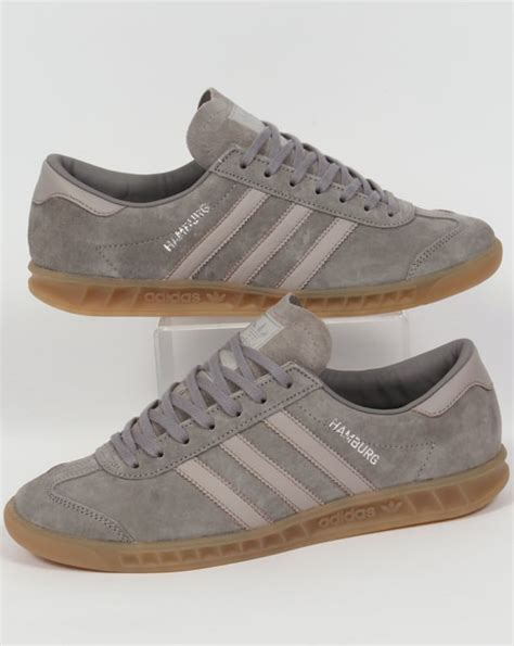 adidas hamburg trainers grey granite clear originals mens
