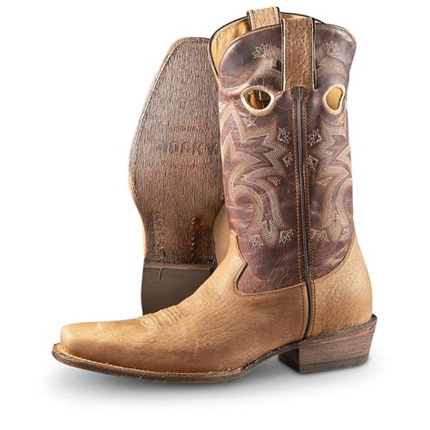 snip toe mens cowboy boots s rocky 12 quot handhewn snip toe western boots