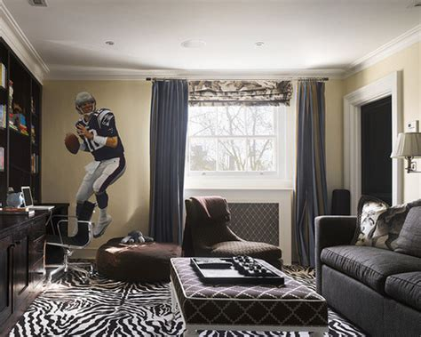 Example of a trendy enclosed family room design in philadelphia with