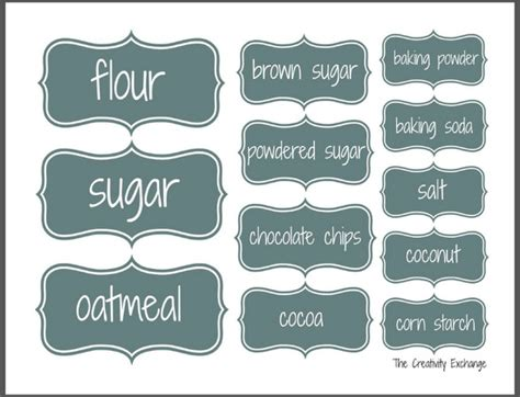 this designer cooks free printable canister labels organize a baking cabinet with free printable pantry labels