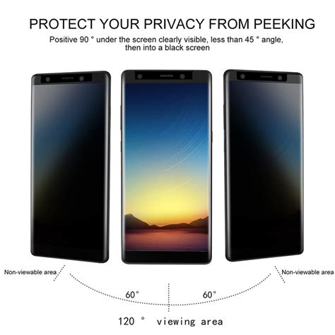 Sale Tempered Glass Color Samsung Galaxy Note 3 3d curved edge privacy tempered glass for samsung galaxy note 8 sale banggood
