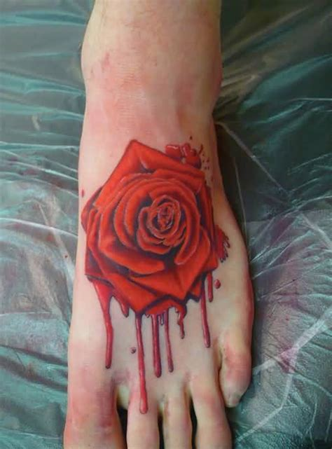 bleeding rose tattoos 60 pictures of terrific golfian