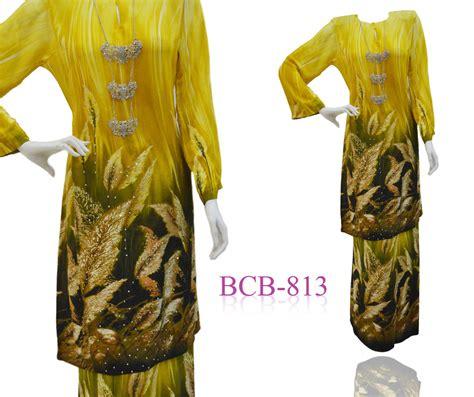 Kemasan Baju Baju Kurung Pahang Sutera Crepe Digital Kemasan Batu