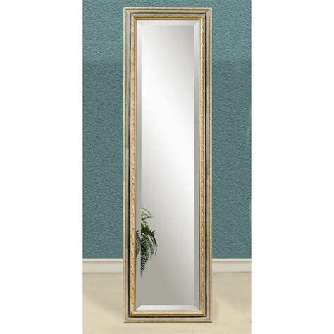 silver gold full length cheval floor mirror 18w x 64h