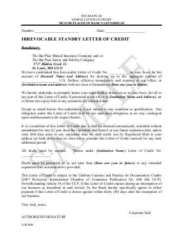 standby letter of credit template gas sle form no 79 1043 irrevocable standby letter of