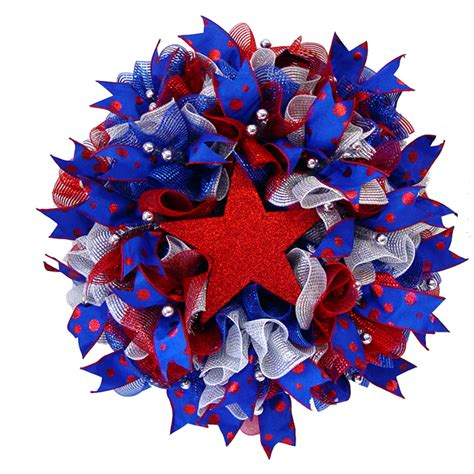 Superb Discounted Christmas Lights #6: Ruffle-wreath-patriotic-finished.jpg