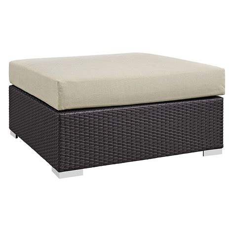 large outdoor ottoman cabo modern outdoor beige lg square ottoman eurway
