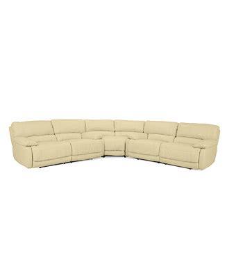 nina sectional sofa reviews nina 3 piece leather reclining sectional furniture macy s