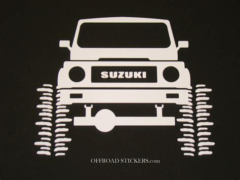 Decal Wheells Samurai Universal suzuki samurai jx rock crawler sami sticker decal 05 ebay