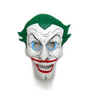 the joker batman leather masks villain comic white green