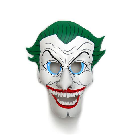 Joker Mask Template the joker batman leather masks villain comic white green