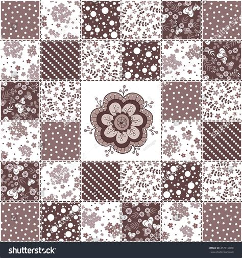 Geometric Patchwork Patterns - abstract seamless patchwork pattern geometric floral stock