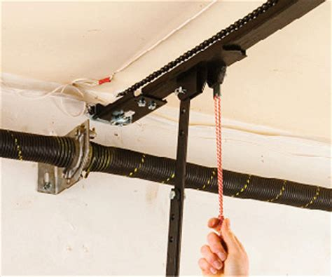 How To Manually Open Your Garage Door When The Power Is How To Open A Garage Door Manually