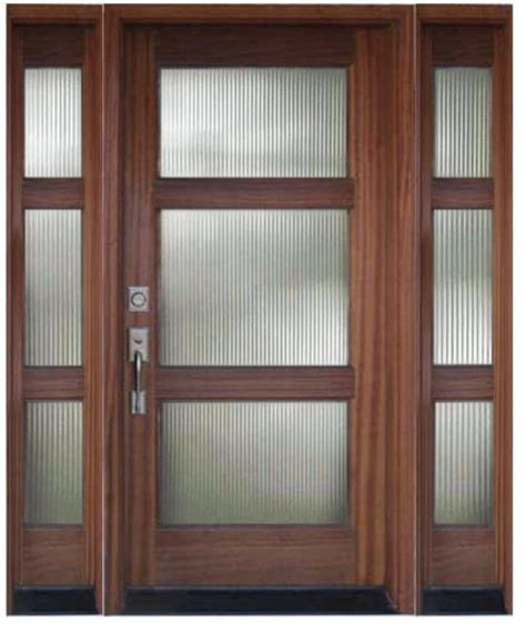 Wood Front Doors With Glass Wood And Glass Entry Door With Sidelights Modern Front Doors Other Metro By M4l Inc
