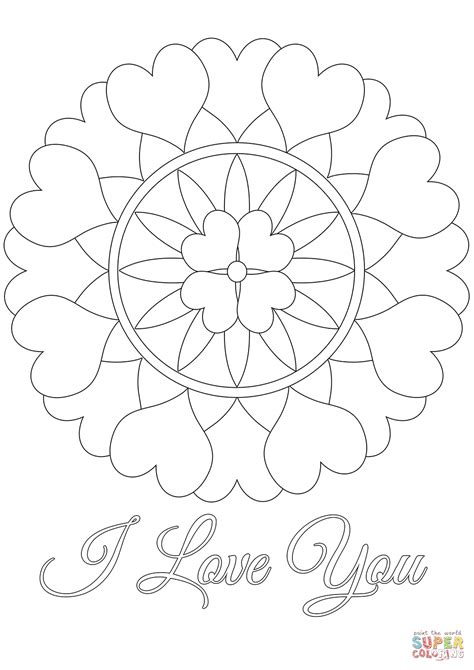 i you coloring pages i you mandala coloring page free printable coloring