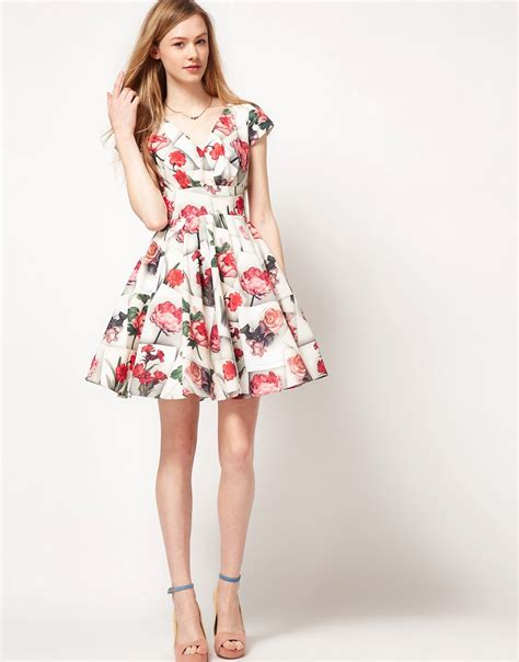 ted baker ted baker vintage floral dress at asos