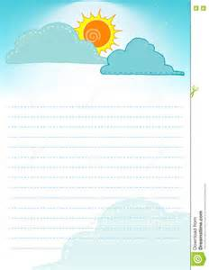 cloud template with lines sun and cloud on the sky background template of page