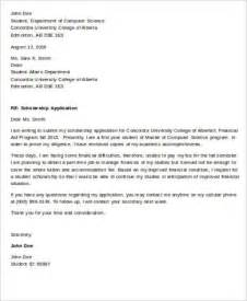 Scholarship Application Letter Uk Application Letter Sle 8 Exles In Word Pdf