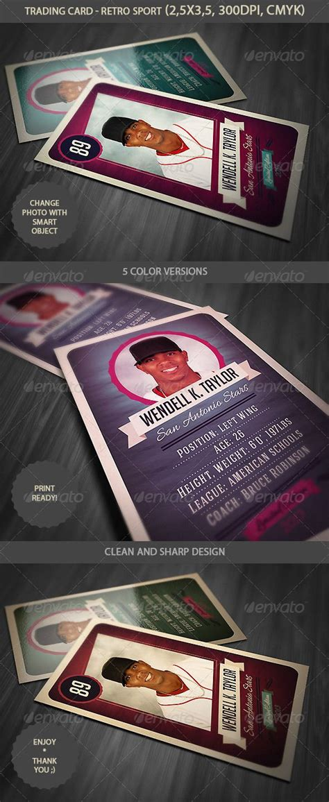 football trading card psd template trading card retro style football cards and creative