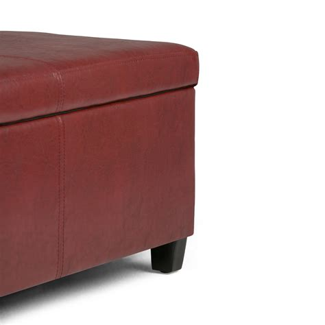 simpli home avalon large storage ottoman amazon com simpli home avalon linen rectangular storage