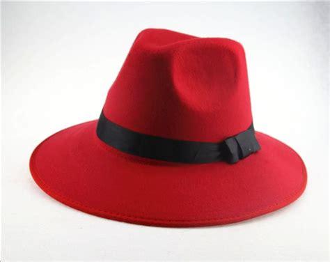 Topi Fedora Hat Import Jazz hippie unisex black jazz wool trilby bowler fedora