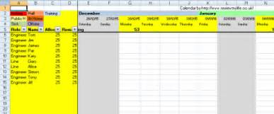 Free Staff Holiday Planner Template Staff Holiday Planning Spreadsheet Template 2016 Project