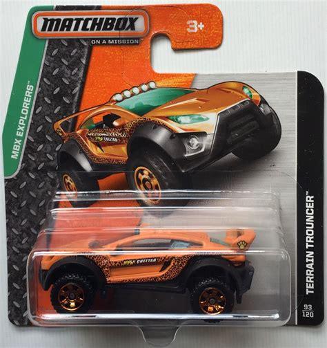 Diecast Matchbox Explorers Terrain Trouncer matchbox mbx explorers terrain trouncer 93 120 card bbdfl25 ebay