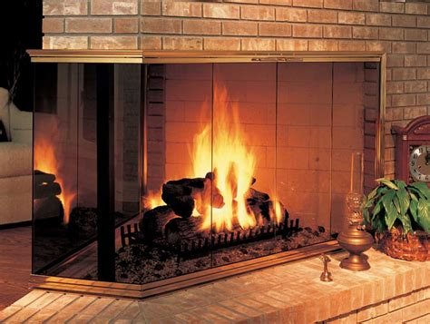 corner multi sided fireplace doors design specialties
