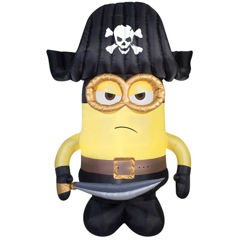 minion bounce house gemmy 9 ft pirate minion halloween inflatable lowe s canada