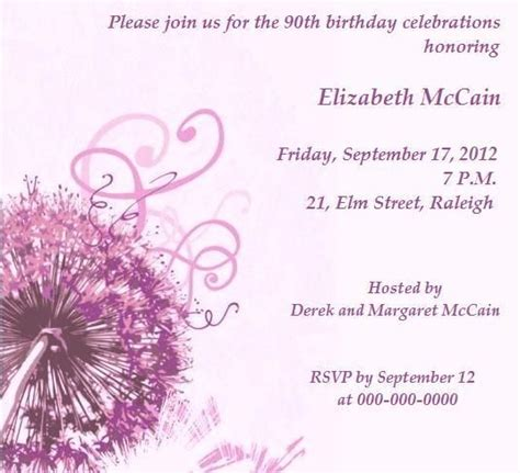 90th birthday party invitations to laud the spirit of old