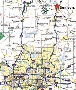 map of and oklahoma border denison development alliance location