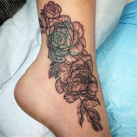 flower ankle tattoo 100 cool designs for your ankles tattoozza