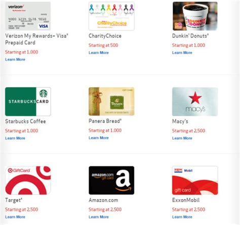 Redeem Verizon Gift Card - verizon rewards just increased points needed to redeem