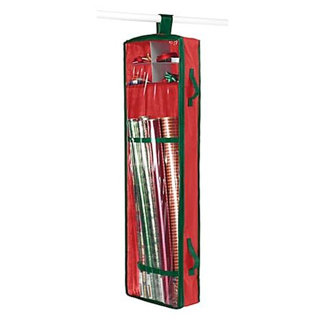 bed bath and beyond gift wrapping whitmor hanging gift wrap organizer in red green bed bath beyond