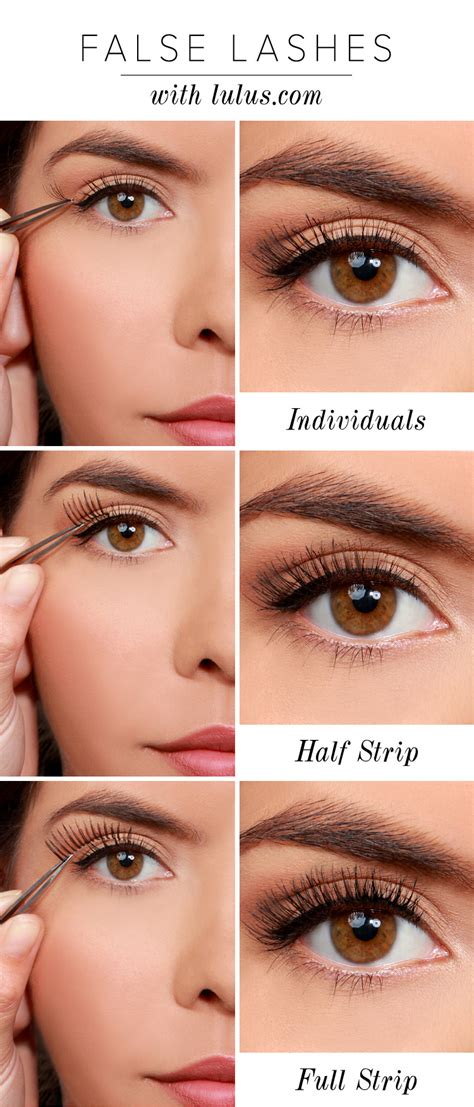 How To Wear False Eyelashes lulu s how to 3 ways to wear false eyelashes lulus