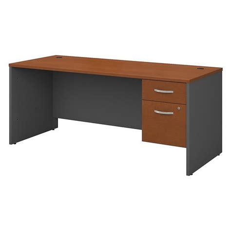 bush business furniture series c 72 quot desk in auburn maple