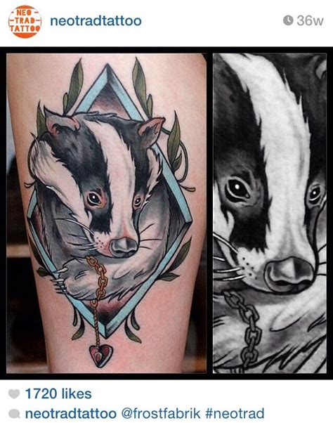 badger tattoo 14 best badger tattoos images on ideas