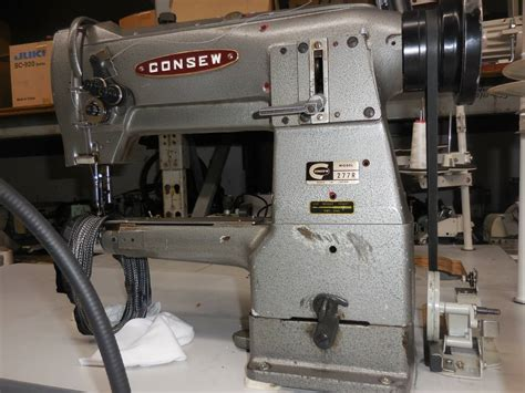 Used Upholstery Sewing Machine by Consew 277r Cylinder Walking Foot Sewing Machine