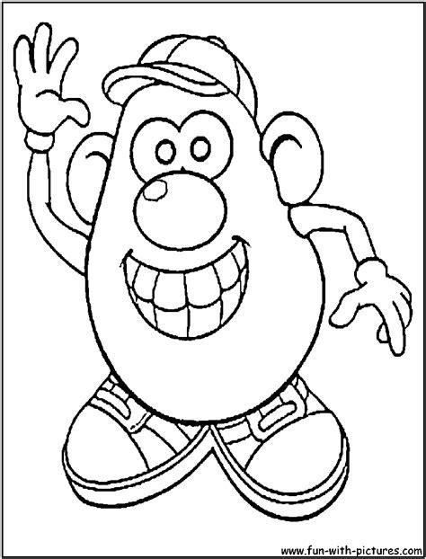 potato head outline coloring pages