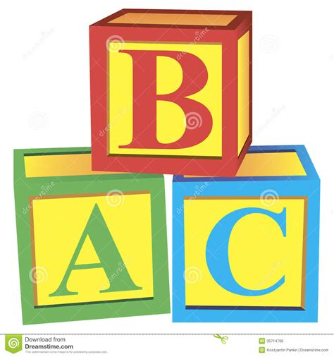 alphabet blocks stock photo image 35714760
