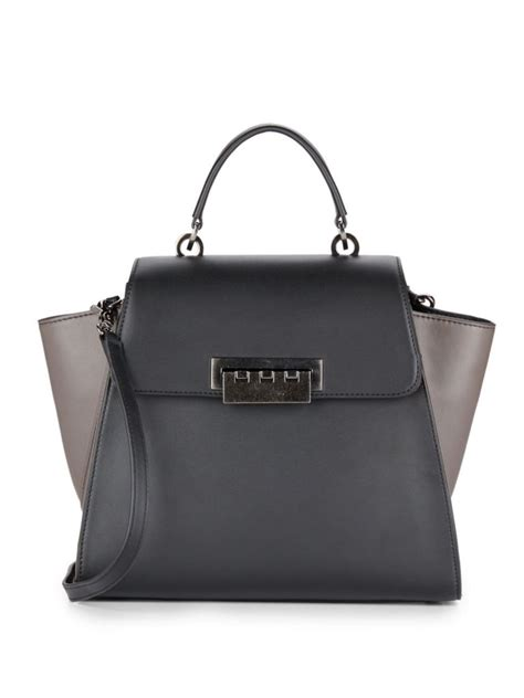 Zac Posen Lil Zac Grainy Leather Purse by Zac Zac Posen Eartha Colorblock Leather Satchel Pit A